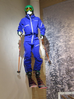 Mannequin putting the jump in jumpsuit