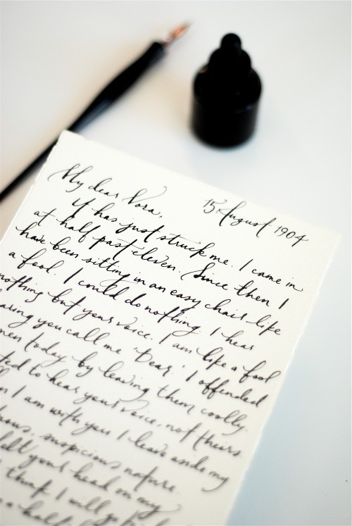 prettypeachpeonies:   Wish everyone still wrote like this…