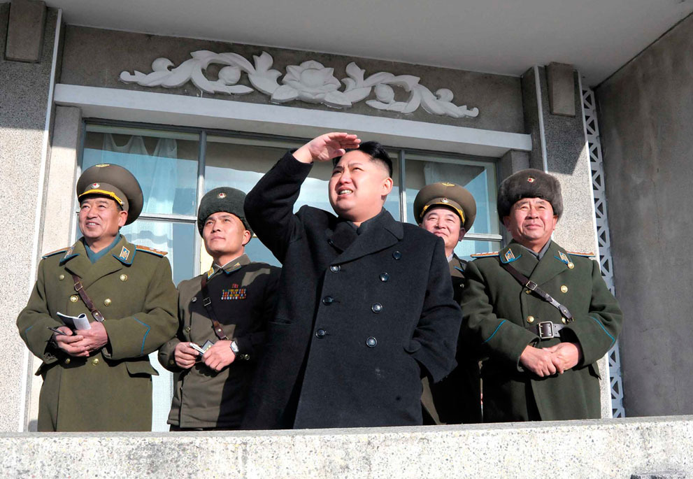 "In Focus: Kim Jong Un Looking at Things  Like father, like son. Since the recent death of Kim Jong Il, North Korean state-run media has been releasing a series of images of the ""Great Successor,"" Kim Jong Un, visiting schools, factories, and military facilities. These visits, which were frequently publicized by his father and his grandfather Kim Il Sung, are called ""field guidance"" trips — opportunities for the supreme leader to give on-the-spot advice. Based on the state-released photos in this collection, he is following closely in his father's footsteps, albeit with a touch more visible affection. See more. [Image: Reuters/KCNA]"