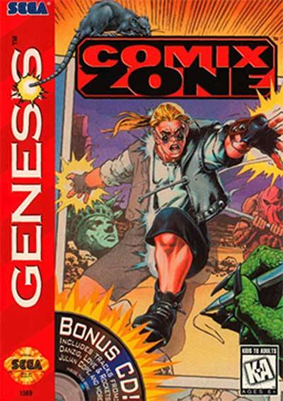 COMIX ZONE (sega génesis) cover art