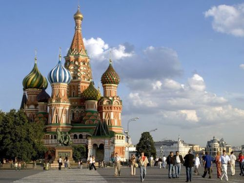 St Basil Cathedral, Kremlin and Red Square, Moscow, Russia.