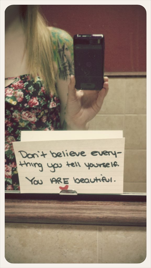 Saw this in a bathroom today, thought it was sweet. (Taken with picplz.)