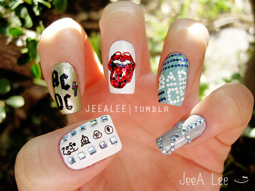 Favorite Rock Bands Nails