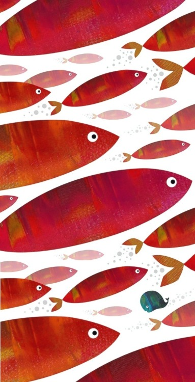 carnetimaginaire:  A.Fox, Go your own way (Les poissons rouges) illustrativo:  go your own way afox.co.uk