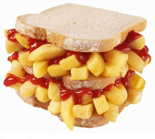 "artyucko:  cordjefferson:  This is food in Scotland.  ""Chip Butty""  I'm moving to Scotland."