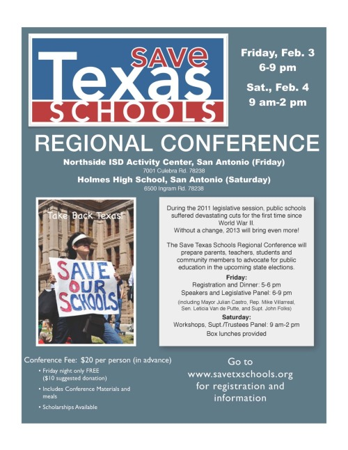 Save Texas Schools - San Antonio Conference