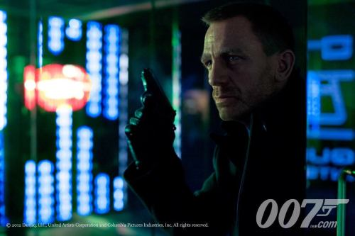 Here's the first photo from the forthcoming James Bond film SKYFALL, directed by Oscar winner Sam Mendes (AMERICAN BEAUTY, ROAD TO PERDITION, JARHEAD, etc.) Star Daniel Craig is joined by Judi Dench, Javier Bardem, Albert Finney, Ralph Fiennes, Naomie Harris, Ben Whishaw, Helen McCrory & Bérénice Marlohe. The production is currently filming around the world in such places as India, South Africa & Turkey, in addition to work on the 007 Stage at Pinewood Studios in England. The film will open in U.S. theaters on November 9th, 2012.