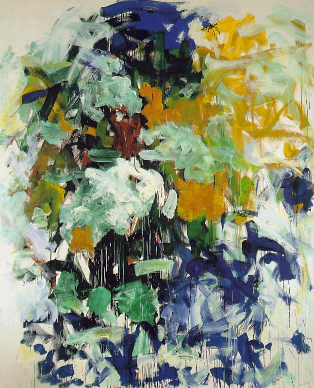 ART | Chord VII, Joan Mitchell, 1987.  Abstract Expressionism - Oil on canvas, 240 x 200 cm. Private collection.