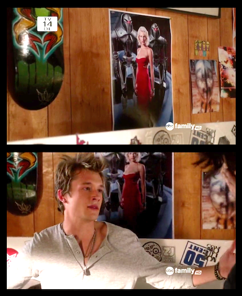 Seeing a Battlestar Galactica poster on Billy's bedroom wall on last night's Jane by Design delighted me in so many ways.