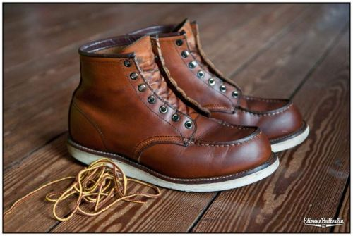 redwingshoes:  Oiled up by Etienne Butterlin via Red Wing Heritage