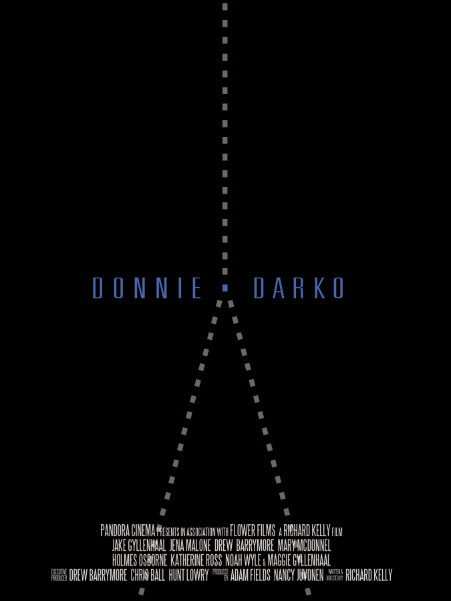 Donnie Darko minimal movie poster by Vincent Gabriele