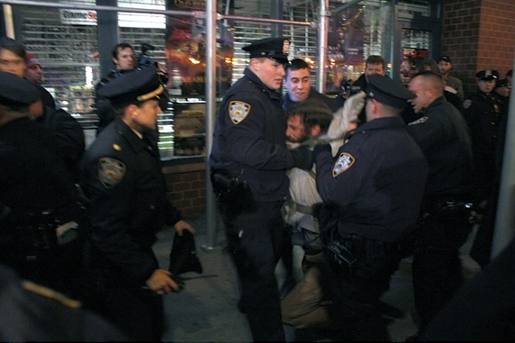 "The New York Times has had it with the NYPD blocking its photographers at | The Atlantic  New York Police officers continue to interfere with photographers and reporters trying to cover news, and a New York Times photographer who was prevented from shooting an arrest at an Occupy Wall Street rally last weekend said police had reason to hide their actions from the press. The department's treatment of reporters in the field has been so bad, media outlets say, that 13 news organizations signed a second letter to the New York Police Department from a New York Timeslawyer on Wednesday, demanding responses and follow-up after their first scathing criticism of the department's handling of the press. The new complaint to police comes after two officers prevented Times freelance photographer Robert Stolarik from photographing a protester's arrest at Sunday's rally in support of Occupy Oakland, the letter says. The letter, which Capital New York posted in full, cites a Times story that reported ""officers blocked the lens of a newspaper photographer attempting to document the arrests."" […] We've reached out to the New York Police Department for comment, and will update this account when they respond."