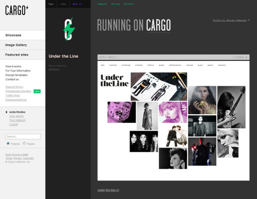 More great news for us! We're featured on Cargo Collective's showcase page on #1 position.  Thank you, thank you, thank you!