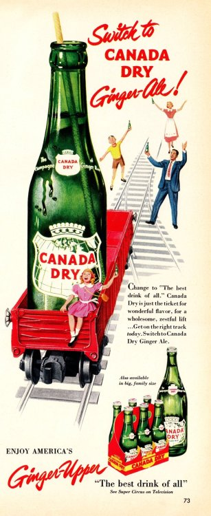 "Beverage Train  ""Look"" magazineJanuary 29, 1952"