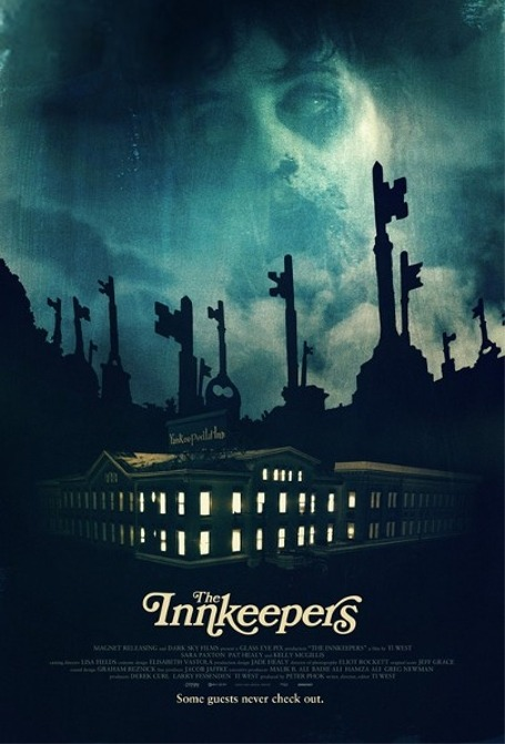 popculturebrain:  Poster; The Innkeepers jonahray:  The Innkeepers  There will be a weeks worth of screenings at the DOWNTOWN INDEPENDENT.  GO SEE THIS MOVIE! From Ti West, the director of THE HOUSE OF THE DEVIL and costarring PAT HEALY!