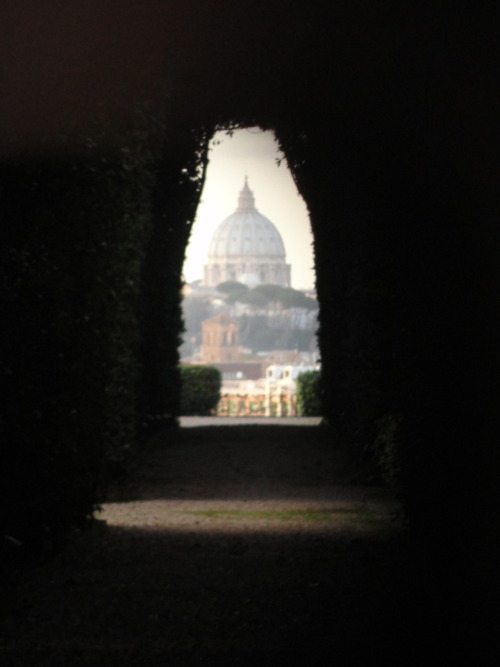 The Keyhole. Rome's best little kept secret