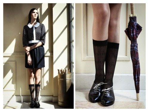 kneesocks forever.  i love mona via calivintage.