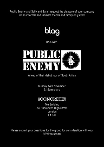2010 | BLAG Q&A with Public Enemy