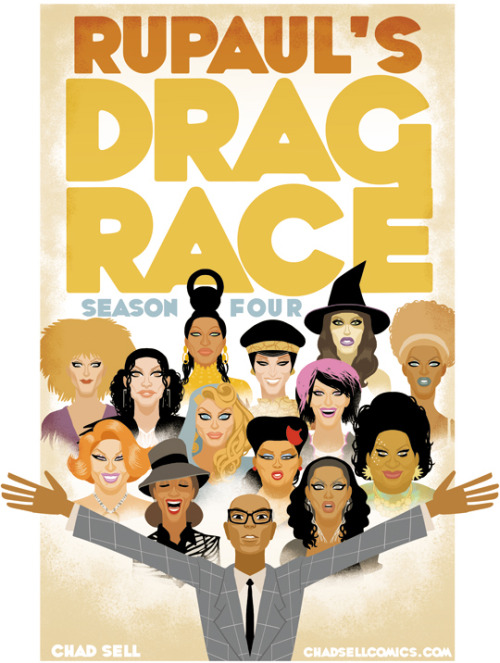 lipsyncforyourlife:  Season 4 of RuPaul's Drag Race by ChadSell