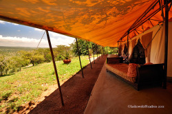 Our tent, Cottars 1920's camp, Kenya by Daniel Laskowski & Luiza on Flickr.