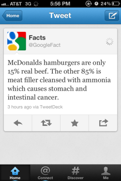make-it-a-lifestyle:  Umm…gross… I wish all of my friends who eat McDonalds more than twice weekly would see this. Good lord. BARF oh god that makes me never want to eat mcdonalds again