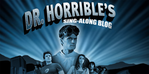 Dr. Horrible's Sing-Along Blog (2008) Not Rated - 42 minutes When he's not busy breaking the law or trying to get close to his secret crush, Penny (Felicia Day), supervillain wannabe Dr. Horrible (Neil Patrick Harris) boasts about his exploits via his Internet video blog and dreams of defeating his nemesis, Captain Hammer (Nathan Fillion). Conceived during the 2008 Hollywood writers' strike, Joss Whedon's quirky musical comedy originally debuted as an online miniseries. 8.8/10 - IMDB View Tralier || Add/Watch on Netflix (via:netflixia)