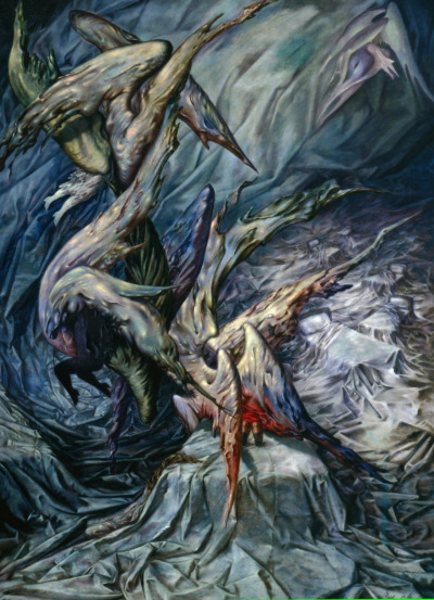 Dorothea Tanning Guardian AngelsDorothea Tanning passed yesterday at the age of 101. She was among my favorite surrealist artists, and this is my favorite painting of hers.