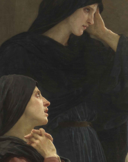hadrian6:  inherspiralarms:  The Holy Women at the Tomb (Detail), William Adolphe Bouguereau (1893)  hadrian6: