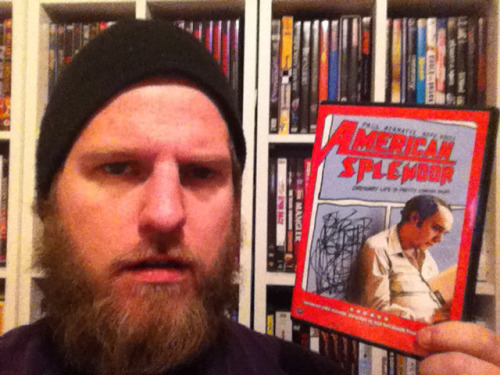 "#24 – American Splendor   Director: Shari Springer Berman & Robert Pulcini   ""Ordinary life is pretty complex stuff.""   I find it very intriguing that a movie about ordinary people can be so un-ordinary as a movie… Its funny to think that the ordinary movies we see, are typically about something un-ordinary happening, or some kind of un-ordinary people – or even ordinary people in an un-ordinary situation. American Splendor is about an ordinary man in ordinary situations, don't get me wrong, Harvey Pekar (Paul Giamatti) is anything but ordinary, but then again, who is? – He is only un-ordinary compared to the characters you usually see in movies – compared to people in the real world, I guess he is pretty ordinary. Harvey is a comic book writer, he writes about the trivial events in his normal life, and people love it. Border lining between fiction and reality, this feature film/documentary is an original piece of work, and tells about getting through life, and dealing with the dirt that's thrown in the machine along the way. Now this movie is based on the comics Harvey writes in the film, and I must admit that I have never seen or read these comics, but I don't think that matters at all. This movie stands alone very well, and I think everybody could get something out of it. The structure is a mishmash of lots of different styles and methods, and they all weave together nicely. It jumps in time, it breaks the forth wall, it shows interviews with real people, it has animation bits in it, and so on and so on. But it all seams quite true to the format the comic book had, as many different drawers drew Pekar's stories, and they all had their own style – so I guess if you were a American Splendor comic fan, you would be use to seeing all these different lines and styles, in that way the movies stays true to the comic. Paul Giamatti (as always) gives a fantastic performance that really kicked his career into the next level. He is on of those actors that really get inside the head of the role, and you forget you are watching acting at all. This is a rare thing, and not many actors have this ability. He works it to perfection – and you are very aware of what the real Pekar is like, since he also is in the film as himself. A bio-pic about a cynic man who deals with life in his own sarcastic and funny way. Even though it does get a bit tedious and dull at times, you somehow live with it (as Pekar does in his own life), and the feeling of being captivated by boredom in ordinary life is very unusual, and suits the movies theme very well.   7/10"