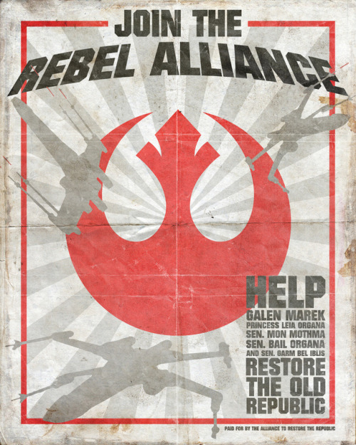 Join the Rebel Alliance - by Rich Johnson Prints available at Society6 (via: tiefighters)