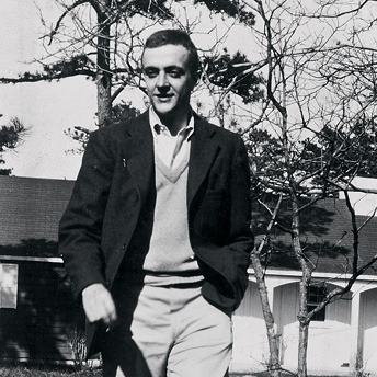 "Fashion Fridays with Kurt Vonnegut! First of all, I think we can all agree that young!Kurt is incredibly attractive. Excuse me while I take a cold shower. That sweater- I can't even… Kurt's sweaters are just consistently the best. If I ever forget another Fashion Friday, the replacement will always be Sweater Saturday. This is also another ""swaggering Kurt"" photo, which is awesome. God, I wish this picture was in colour. I bet he'd look even snazzier."