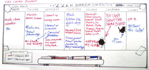 221 Baker Street's Chore Bored by Graphitekind