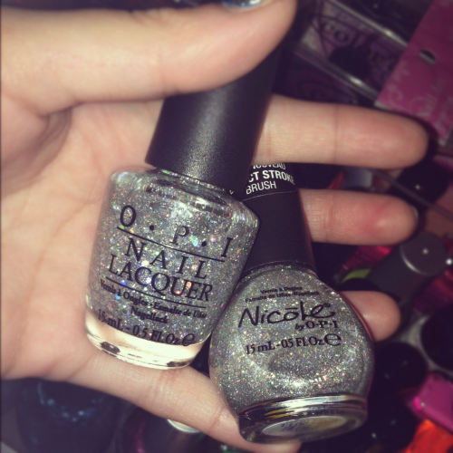 OPI // Servin' Up Sparkle  Nicole by OPI // Make A Comet-Ment