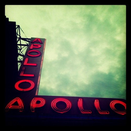 Apollo Theatre, #harlem #nyc #instamoody #sky #neonsign  (Taken with instagram)
