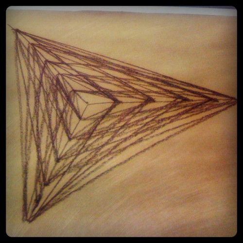 #graphicdesign #drawing #pyramid #figures #black  (Taken with instagram)