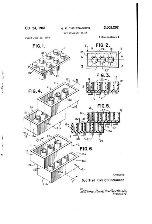 The Original LEGO Patent