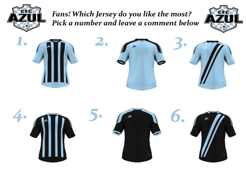 Help CFC Azul choose their new uniforms! Connecticut Football Club Azul is Connecticut's Newest Soccer Franchise. They put a great emphasis on the fans and want the supporters to help decide the new CFC uniforms. Check them out on facebook for a chance to voice your own thoughts about the design of their new kits. Also get a chance to meet the owners at the Inaugural CFC Supporters Club Meet Up at the Extra Time Bar at CFC Arena in Hamden on Thursday, February 2nd. Festivities start at 7pm. The address is listed at 1018 Sherman Ave, Hamden, CT. Right next to Quinnipiac University, off Exit 10 on I-91