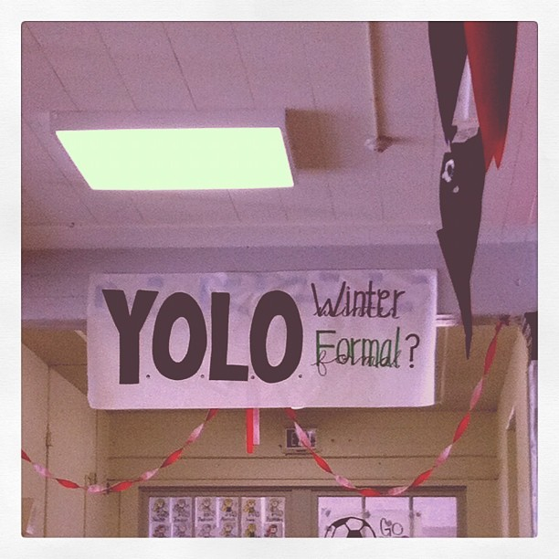 This is what we see at Monrovia high so much school spirt. (Taken with instagram)