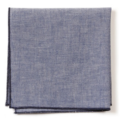 Chambray pocket square from the Knottery