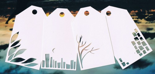 alittlevoice:  Some paper cut gift tags. Just some fun experiments. :)
