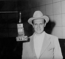 lbjlibrary:  This photo is of Catcus Pryor, long time radio and television host of KTBC.   In 1942, Lady Bird and Lyndon purchased Austin radio station KTBC with Lady Bird's inheritance.  By the 1950s the Johnsons expanded the radio station into the television market, and Pryor was one of the first faces Austinites got to know over the air.  Always the entertainer, Pryor would emcee at programs for the Johnsons.  To learn more about Pryor please see our press release honoring this man after his death in 2011.     Worth reblogging for his name alone.