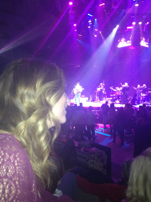 at the George Strait and Martina Mcbride concert in Lafayette, LA