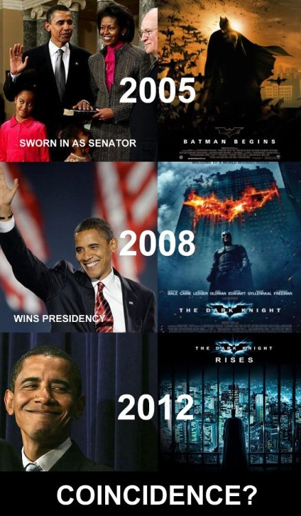 barackfuckingobama:  katielynne3:  obama is batman that's why.  You've never seen batman and Obama in the same room together. It is known.