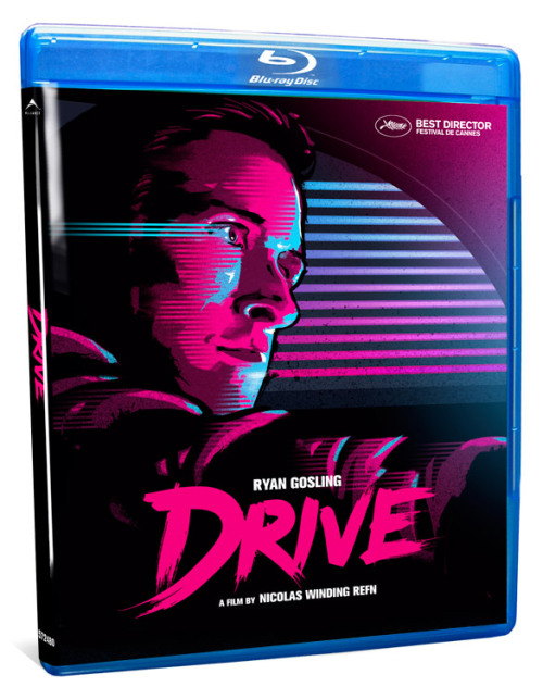 atencio:  If you hate the cheesy slapped-together look of the official Drive blu-ray / DVD cover, you can always download this attractive substitute by James White at Signalnoise. Get it here.  I was personally very disappointed with not just the blu-ray/dvd cover of this movie, but also the almost complete lack of bonus features. If I had to guess, I would say that Nick Dingfin Derpwin did not have 'final cut' on this particular blu-ray and/or dvd edition.  If there are any movie executives reading this, I hope that they will hear my humble plea for more bonus features on my blue ray dvds. Specifically, I would like to see more interviews with movies stars and more commentaries. And, as long as I have your attention, why did you stop including 'film stills' as part of your bonus features?