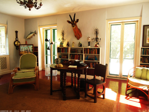 Ernst Hemingway's writing studio—where the magic happened. #photography #interiordesign #hemingway Key West, FL.2012 January