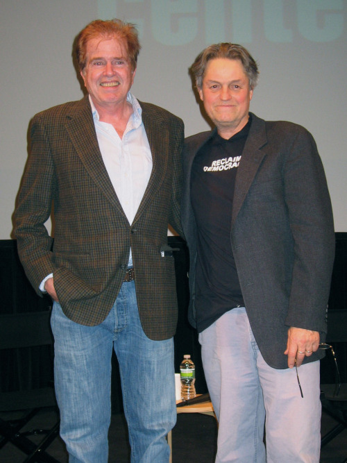 Director Jonathan Demme and star Paul Le Mat at a screening of MELVIN AND HOWARD (1980) @FilmLinc on 2/1/12