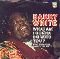 "Barry White ""What Am I Gonna Do With You?"" / ""What Am I Gonna Do With You Baby? (Instrumental)"" Single - Philips Records, Holland (1975)."