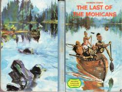 Beautiful cover illustration by Rene Follet for The Last of the Mohicans