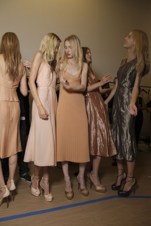 odianne:  backstage at calvin klein spring 2012