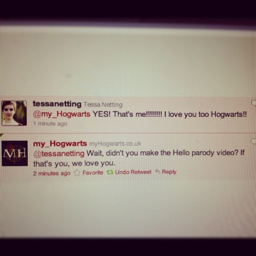 HOGWARTS LOVES ME. (Taken with instagram)